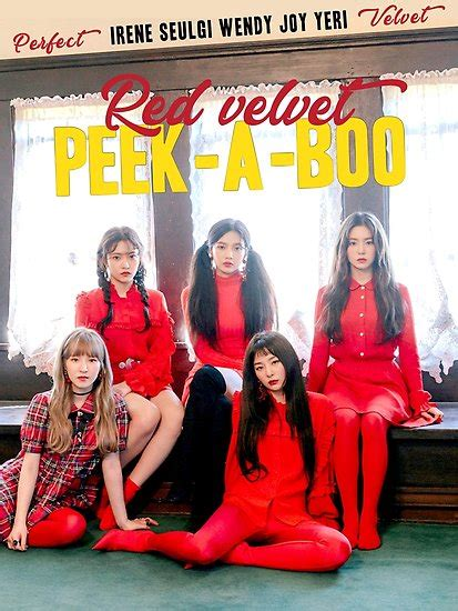 download mp3 red velvet peek a boo quot red velvet peek a boo 01 quot posters by nurfzr redbubble