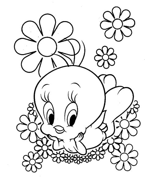 coloring page tweety bird coloring pages of tweety coloring pages to print