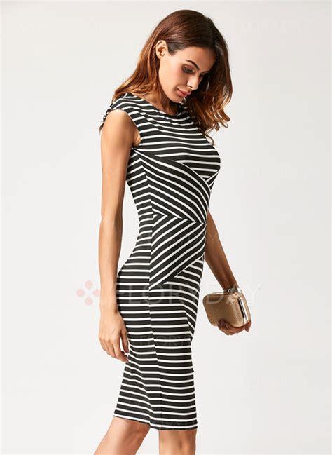Stripe Length M L Dress 30873 stripe sleeveless knee length sheath dress floryday