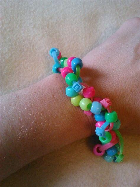 zip bead neon bright pony bead and zip tie bracelet