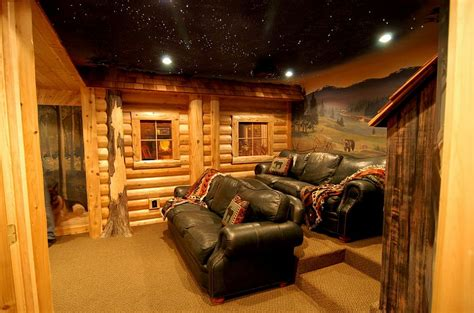 Cabin Garage Plans by 10 Awesome Basement Home Theater Ideas