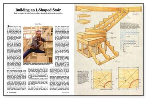 1 how to build l shaped stairs plans for wood drying shed
