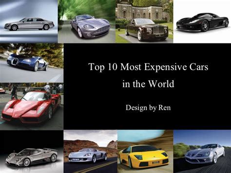 Would You Indulge In The Worlds Most Expensive Desserts by Top 10 Most Expensive Cars In The World