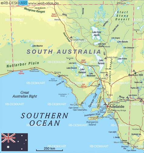 section maps south australia map of south australia australia map in the atlas of