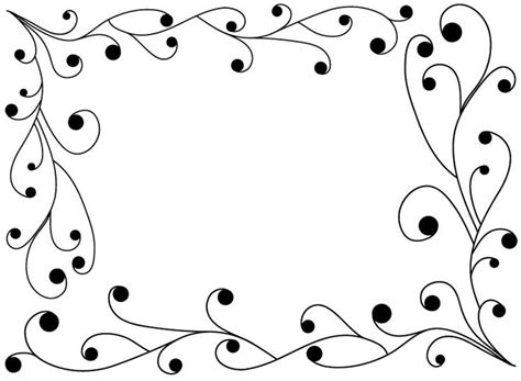 Design For Birthday Cards Borders 13 Best Border Designs Images On Pinterest Photoshop