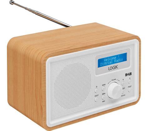 clock radio with light buy logik lhdr15 portable dab fm clock radio light wood