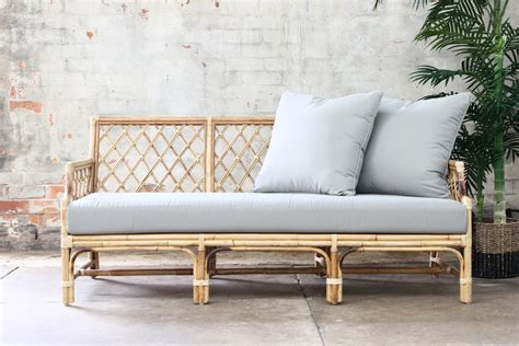 rattan daybed catalina 3 seater daybed naturally cane rattan and