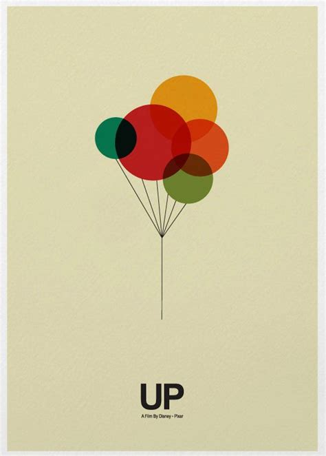 poster design love up movie poster print typography up pixar and graphics