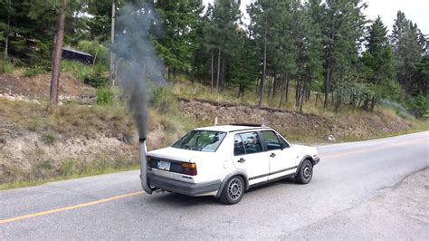 volkswagen diesel smoke jetta with stack rolling coal youtube