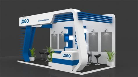 booth design freeware exhibition booth 3d model 6 mtr x 3 mtr 3 sides open 3d