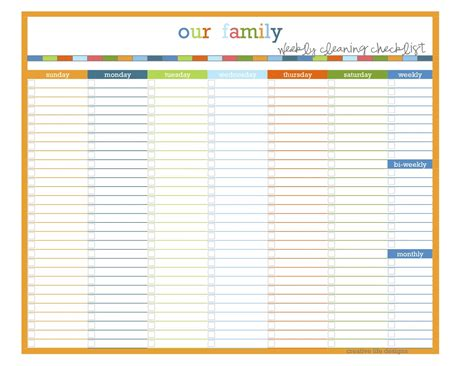 Creative Life Designs Home Management Binder Makeover Part 4 Schedule List Template