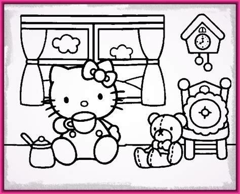 dibujos infantiles kitty encantadores dibujos hello kitty para colorear e imprimir