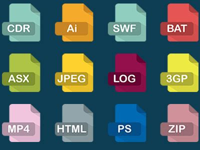 digital video format file extension 40 file document type icon sets for free download