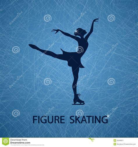 figure background illustration with figure skater stock image image 35298911
