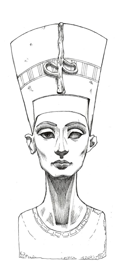 egyptian tattoo drawings best 25 nefertiti ideas on