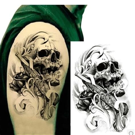 popular gun sleeve tattoos buy cheap gun sleeve tattoos