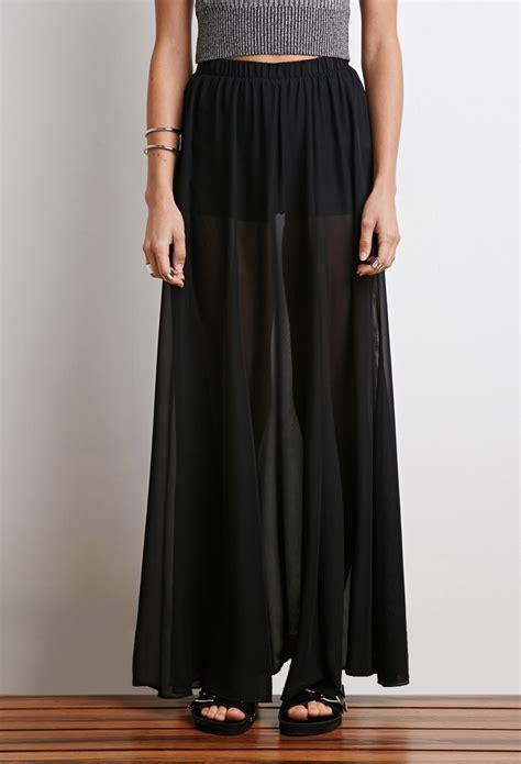 sheer black maxi skirt dress ala