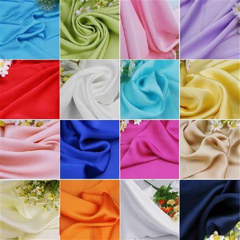 Sale Segiempat Satin Silk Mortif aliexpress buy high grade satin chiffon fabric summer clothing tulle whole sale