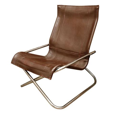 leather folding chair uchida leather folding chair at 1stdibs