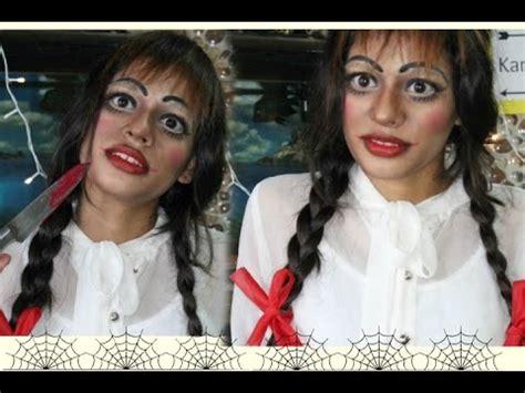 annabelle doll 2015 annabelle doll makeup tutorial 2016 creepy doll