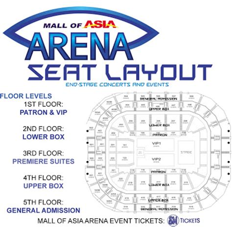 Sm Mall Of Asia Floor Plan by Mall Of Asia Arena Manila Concert Scene