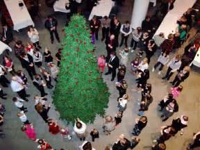 around the christmas tree christmas lights decoration