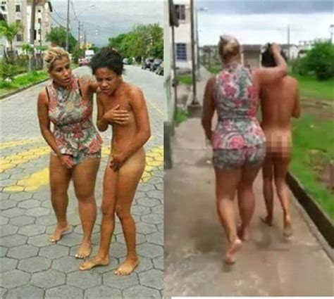 furious wife forces husband's lover to march naked after