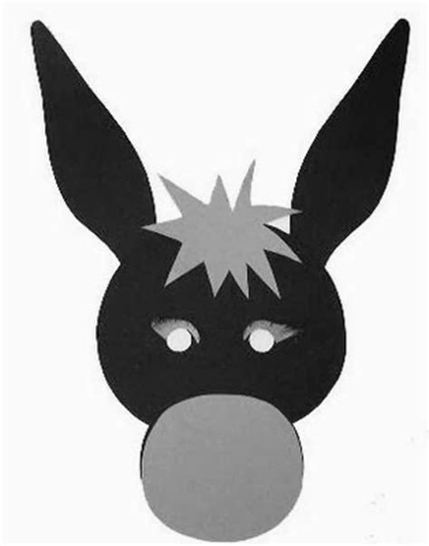 printable animal masks donkey donkey mask template 171 preschool and homeschool