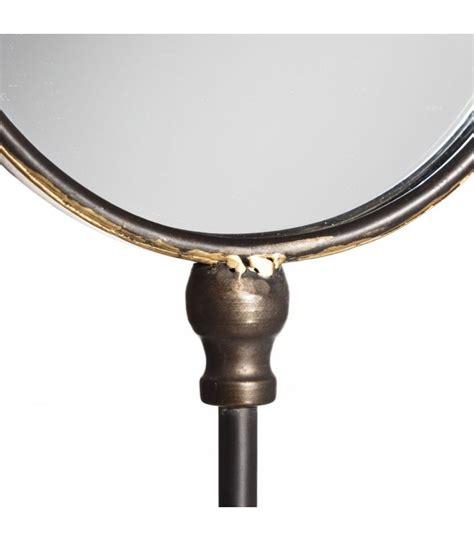 Supérieur Miroir A Poser Sur Table #8: Miroir-decoratif-a-poser-sur-pied-rond-or-antique.jpg
