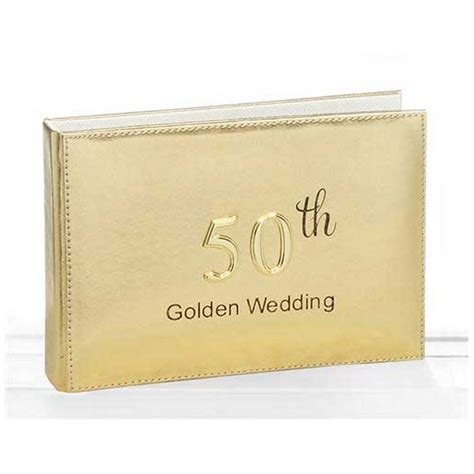 Golden Wedding Anniversary Gift Ideas by Golden Wedding Photo Album Gifts By Anniversaryideas