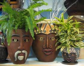 Flower Pots With Faces On Them by Dope Pots Green Fingers Pinterest