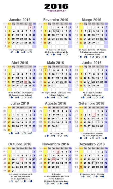 Calendario E Feriados Calend 225 2016 Em Png Pronto Para Voc 234 Utilizar Webcid