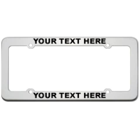 personalized license plate frames custom stainless steel license plate frame