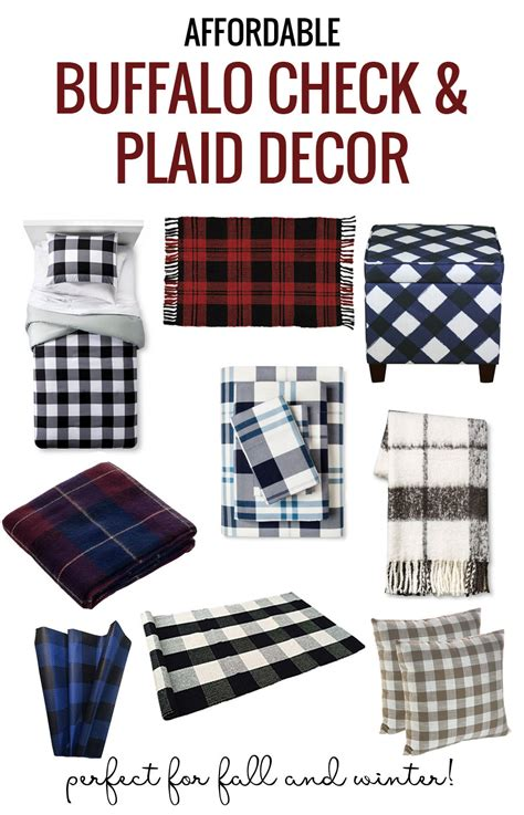 Fall Decoration Pinterest - remodelaholic affordable plaid and buffalo check home decor items