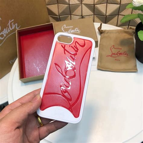 christian louboutin iphone     loubiphone case white  red rubberphone cases