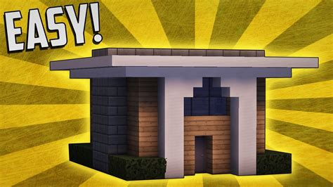 how to build a small modern house minecraft how to build a simple compact modern house