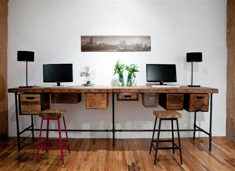 Stylish Office Desks Stylish Desks With Industrial Designs And Details
