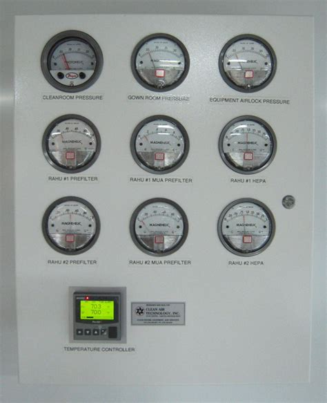 clean room monitoring system cleanroom monitor temperature pressure rh prodataloggers