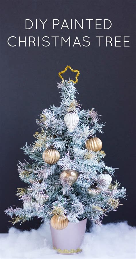 thrifty diy how to paint an artifical christmas tree