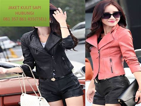 jaket kulit wanita terbaru  jaket kulit wanita