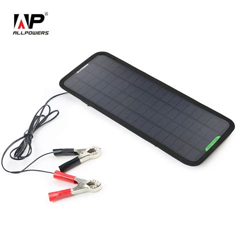 solar charger car battery allpowers new 18v 5w portable solar car boat power panel