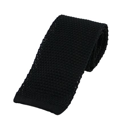 black silk knit tie black silk knitted tie extras