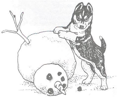 free husky pup coloring pages