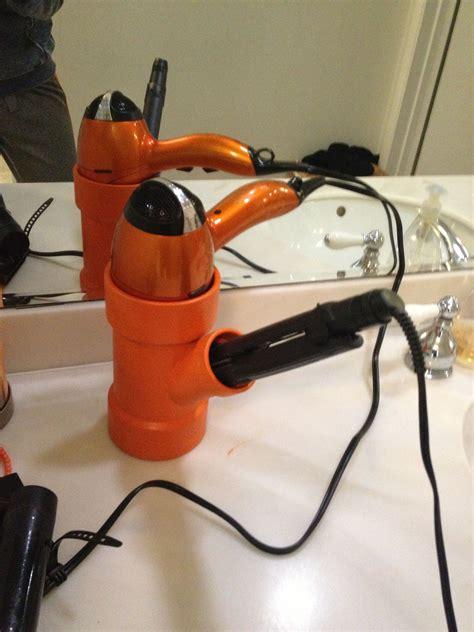 Hair Dryer And Straightener Holder Pvc it hair dryer and curling iron or straightener