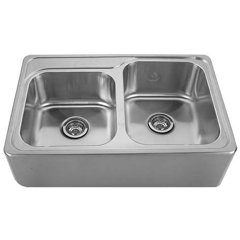 Brushed Steel Kitchen Sink Whitehaus Collection Noah S Collection Front Apron Brushed Stainless Steel 33 In 0