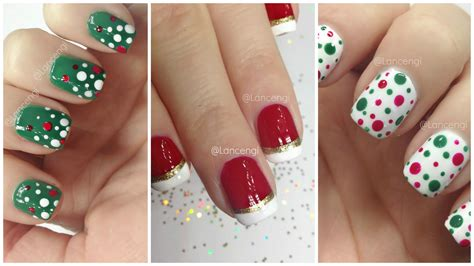 easy nail art for xmas diy cute easy christmas nail polish designs for