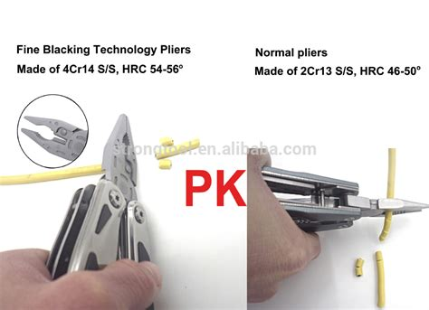 high end multi tool high end anodized finished handle multi tool pliers with
