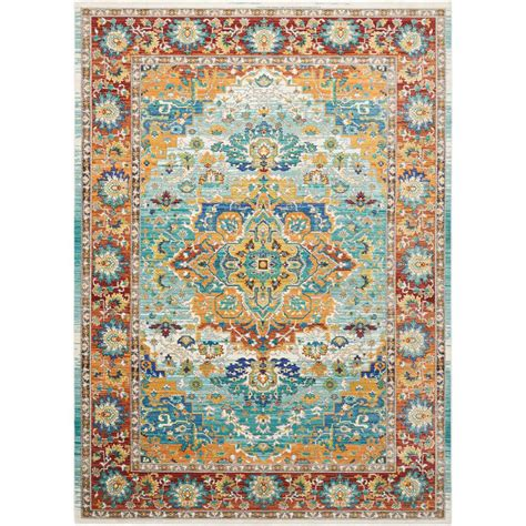 10 X 6 Area Rug Nourison Delmar Multicolor 7 Ft 10 In X 10 Ft 6 In Area Rug 387448 The Home Depot