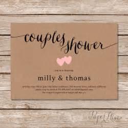 diy couples wedding shower invitations rustic couples shower invitation kraft couples wedding shower invite diy printable digital
