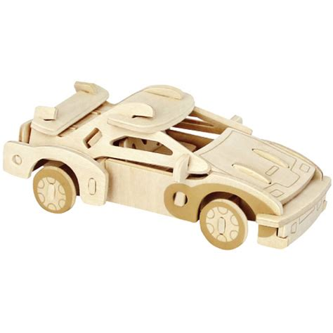 wooden sports car puzzle hobbycraft